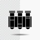Тест, трубка, наука, лаборатория, значок глифа крови на прозрачной предпосылке r бесплатная иллюстрация