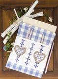 Тетрадь вышивки с handmade национальным этническим орнаментом Стоковая Фотография RF