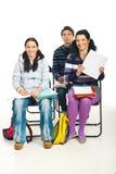 тетрадь девушки показывая студента Стоковое Фото