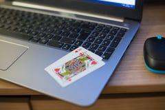 Тетрадь играя карточек Стоковое Изображение
