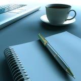 тетрадь кофейной чашки иллюстрация вектора