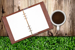 тетрадь кофе Стоковая Фотография RF