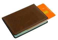 тетрадь кредита карточки bookmark Стоковые Изображения RF