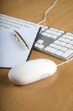 тетрадь мыши клавиатур Стоковая Фотография