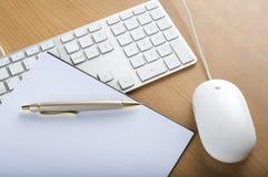 тетрадь мыши клавиатур Стоковые Фотографии RF