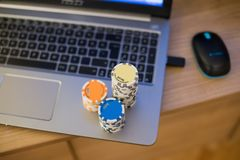 Тетрадь обломоков покера Стоковая Фотография