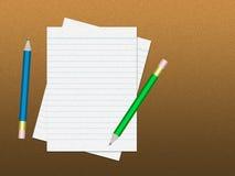 Тетрадь с карандашем Стоковая Фотография RF