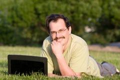 тетрадь человека Стоковое Изображение RF
