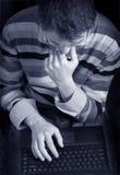 тетрадь человека Стоковые Фотографии RF