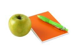 тетрадь яблока Стоковая Фотография RF