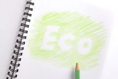 тетрадь eco характера Стоковая Фотография RF