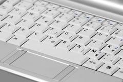 тетрадь netbook клавиатуры Стоковые Изображения