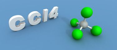 тетрахлорид молекулы углерода Стоковая Фотография