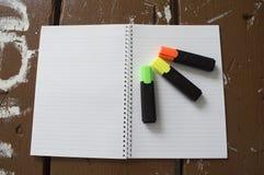 Тетрадь белой бумаги Стоковое Фото