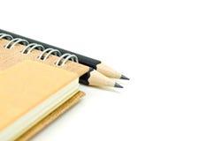 тетрадь и карандаши Стоковая Фотография RF