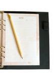Тетрадь и карандаш Стоковое Изображение