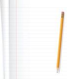 Тетрадь и карандаш Стоковая Фотография