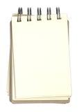 Тетрадь и чистый лист бумаги Стоковое Изображение