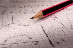Тетрадь математики Стоковая Фотография RF