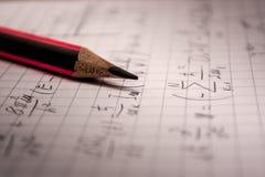 Тетрадь математики Стоковые Фото