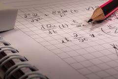 Тетрадь математики Стоковое фото RF