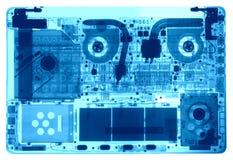 Тетрадь под рентгеновскими снимками Стоковые Фотографии RF