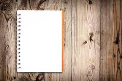 тетрадь предпосылки деревянная Стоковое Изображение RF