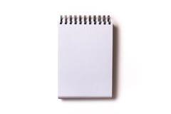 тетрадь с белой бумагой Стоковые Фотографии RF