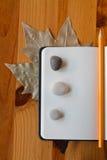 Тетрадь листьев Стоковая Фотография RF