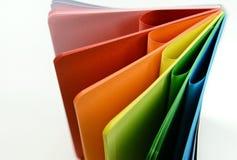 Тетрадь с покрашенными листами Стоковая Фотография RF