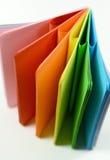 Тетрадь с покрашенными листами Стоковое Изображение