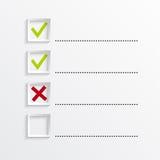 Тетрадь с для того чтобы сделать список Стоковая Фотография RF