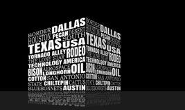 Техас формулирует облако иллюстрация штока