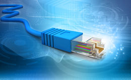 Техник кабеля сети Стоковая Фотография