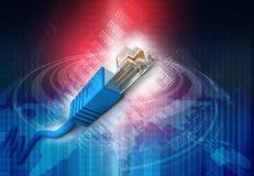 Техник кабеля сети Стоковое фото RF