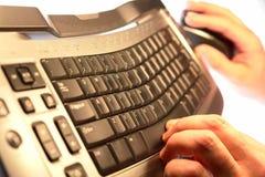 техник мыши клавиатуры компьютера стоковое изображение rf