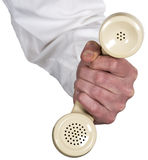 техник поддержки сбываний маркетинга принципиальной схемы центра телефонного обслуживания Стоковое фото RF