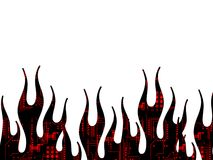 техник страницы пламен Стоковые Изображения RF