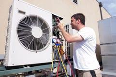 Техник HVAC Стоковая Фотография RF