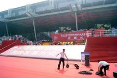 техник shenzhen фарфора справедливый, котор держат высокий Стоковая Фотография RF