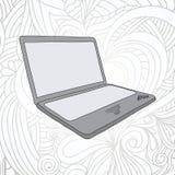 Техническая иллюстрация в стиле doodle Стоковое Изображение