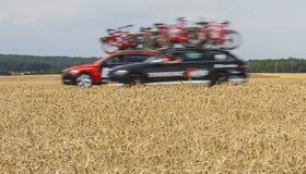 Технические автомобили - Тур-де-Франс 2017 стоковые изображения