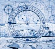 Технические чертежи стоковая фотография