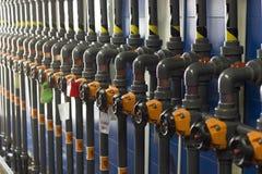 Технический блок для рабочих жидкостей насоса Стоковые Изображения RF