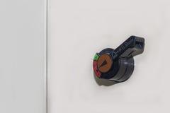 Технический дисплей на пульте управления с dev электротехнического оборудования Стоковое фото RF