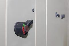 Технический дисплей на пульте управления с dev электротехнического оборудования Стоковые Изображения RF