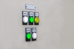 Технический дисплей на пульте управления с dev электротехнического оборудования Стоковые Фото