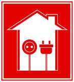 Технический символ электричества Стоковое Изображение RF