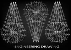 Технический чертеж, инженерство бесплатная иллюстрация
