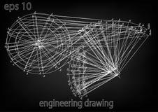 Технический чертеж, инженерство Стоковое Изображение